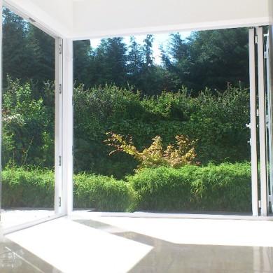 Ken O'Brien Carpentry, Building, Roofing - Bi-fold doors open