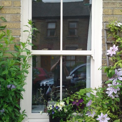 Ken O'Brien Carpentry and Building - Cream up and down sash window