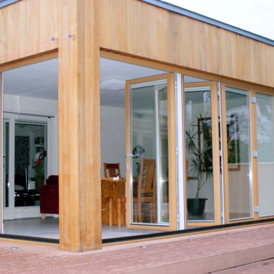 Ken O'Brien Carpentry, Building, Roofing - Hracho Wina larch bi fold