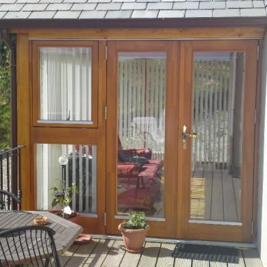 Ken O'Brien Carpentry, Building, Roofing - Wood patio doors