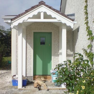 Ken O'Brien Carpentry, Building, Roofing - Wooden plank door