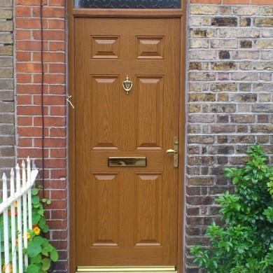 Ken O'Brien Carpentry, Building, Roofing - Woodgrain composite door